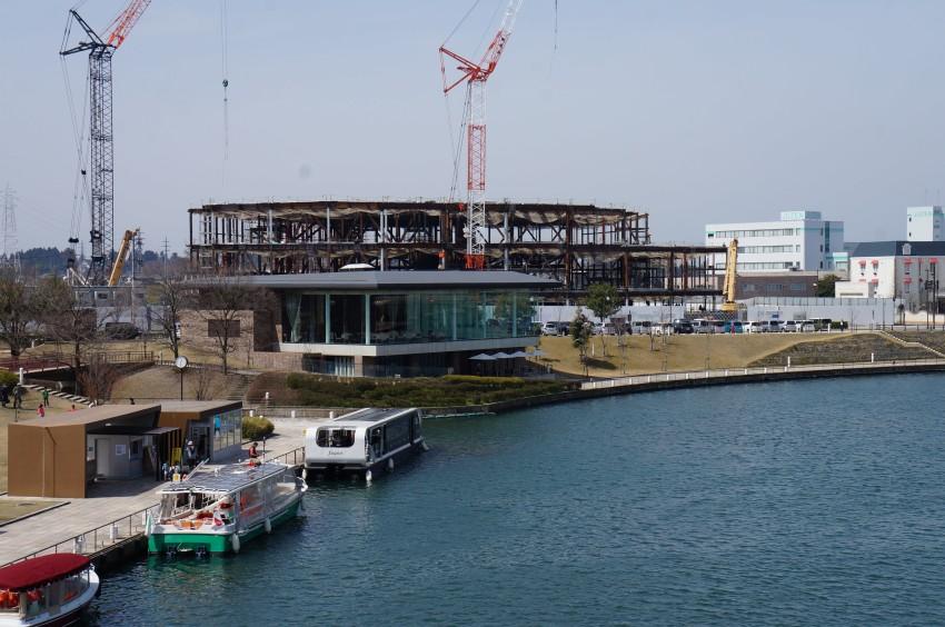 新近代美術館(仮称)建設中